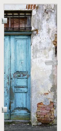 Bild einer Tür mit Fotofolie