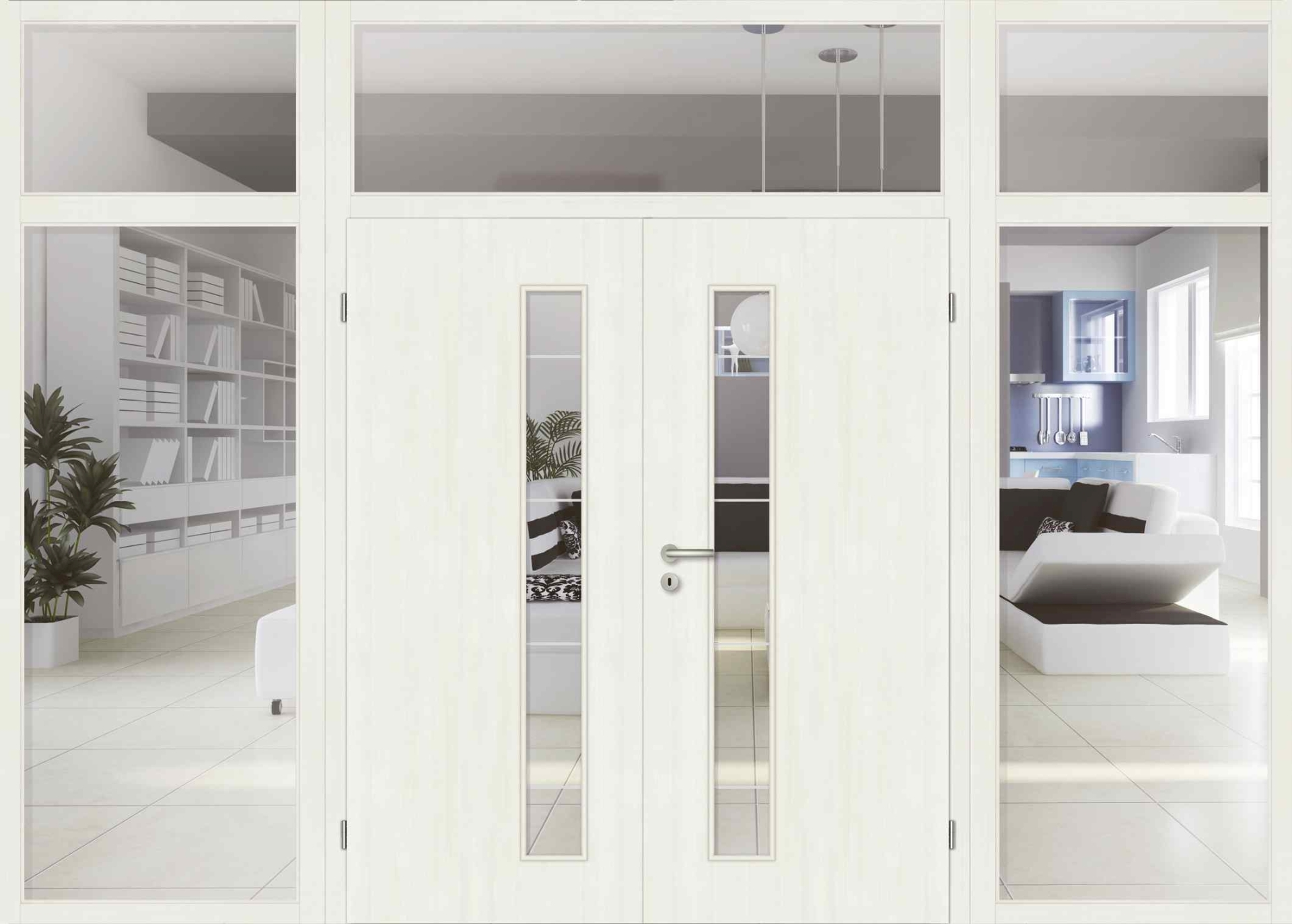 wohnzimmer doppelt r mit glas. Black Bedroom Furniture Sets. Home Design Ideas