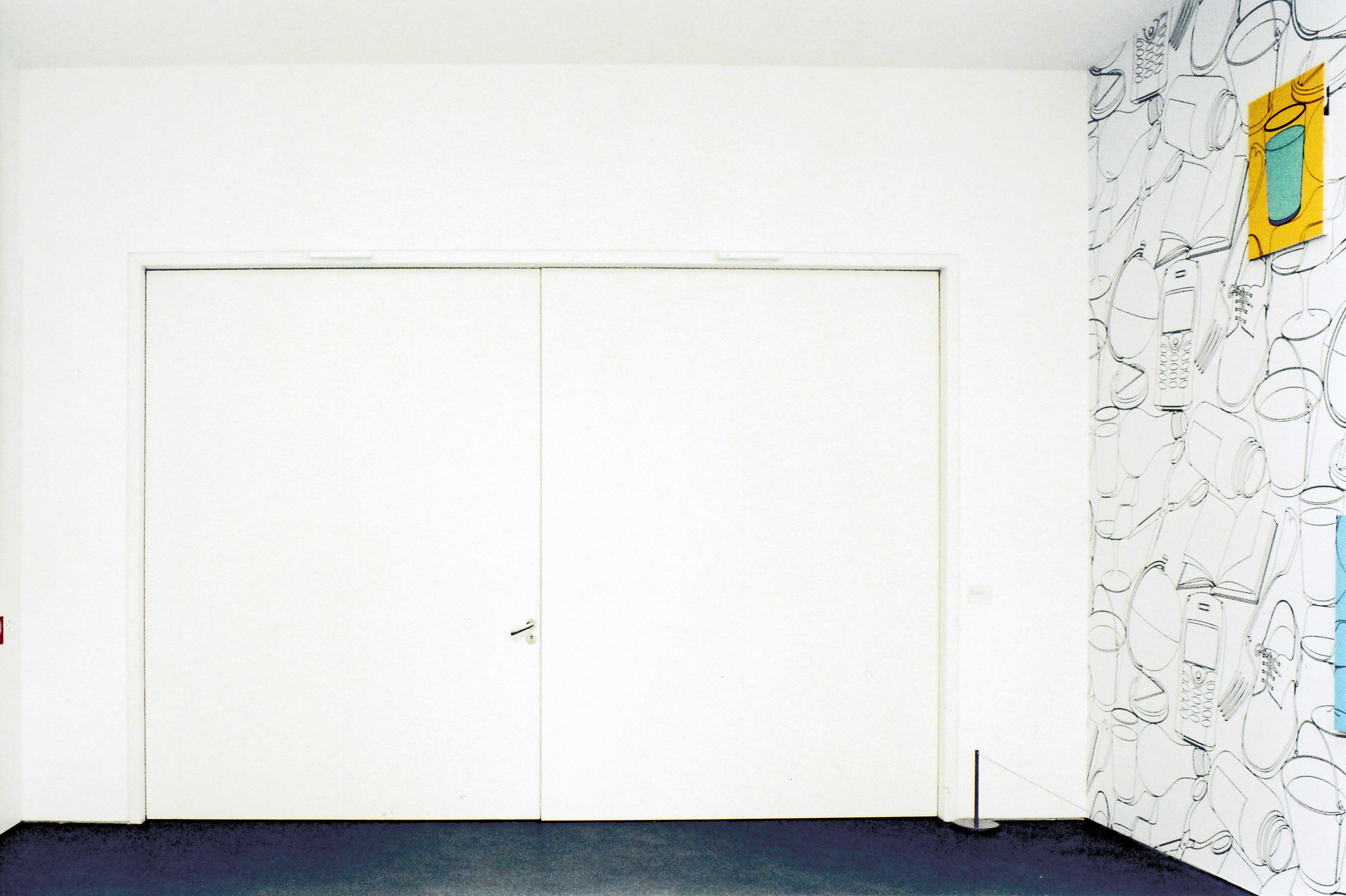 Zweiflügelige Brandschutztür