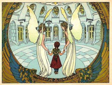 Zwei Engel mit dem Marienkind