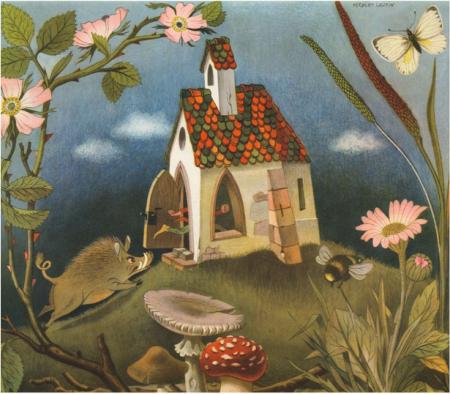 """""""Das tapfere Schneiderlein"""" in """"Märchen der Brüder Grimm"""", illustriert von Herbert Leupin (© 2015 NordSüd Verlag AG, Zürich / Schweiz)"""