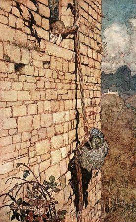 Rapunzel, illustriert von Arthur Rackham (1867-1939) (Quelle: www.maerchenatlas.de)