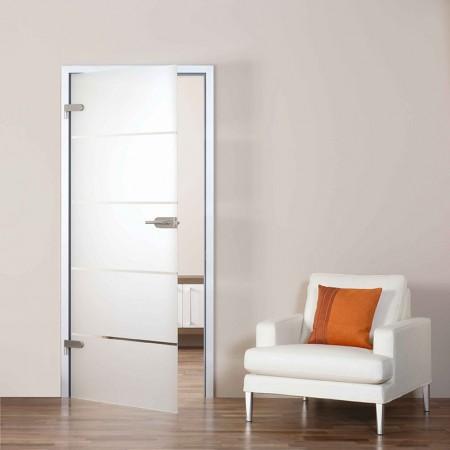 Tür mit Siebdrucktechnik
