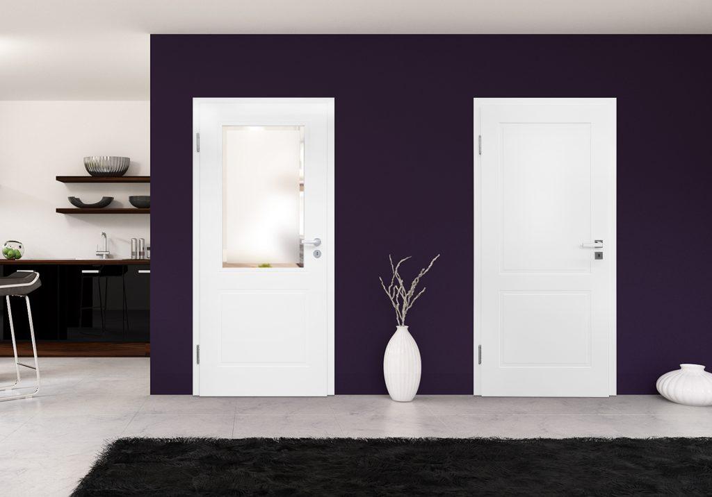 Tür mit und ohne Glasausschnitt
