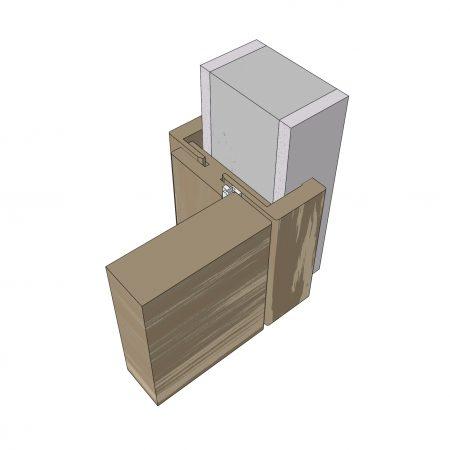 Schema eines flächenbündigen Türsystems