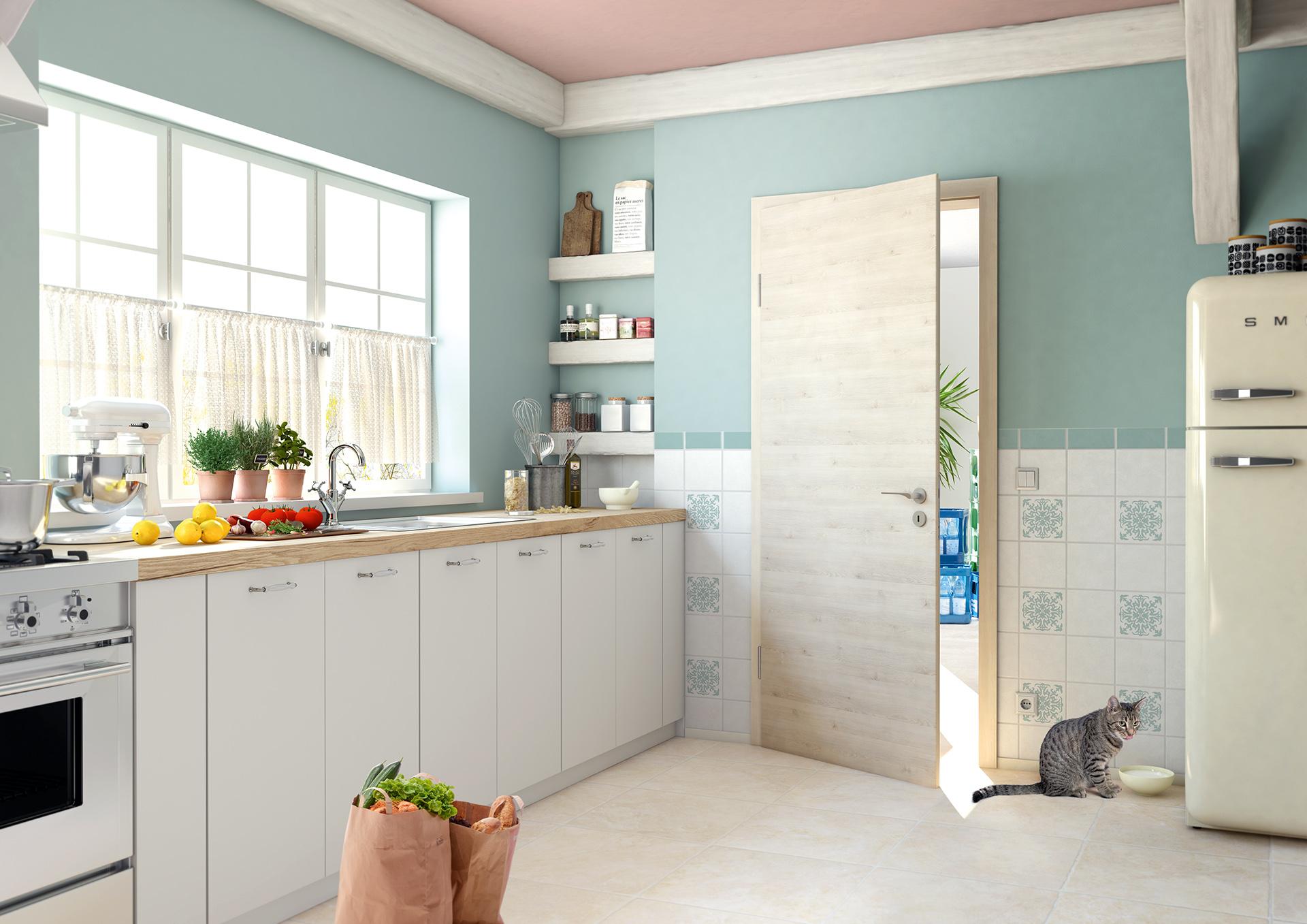 wandgestaltung und t renwechsel. Black Bedroom Furniture Sets. Home Design Ideas